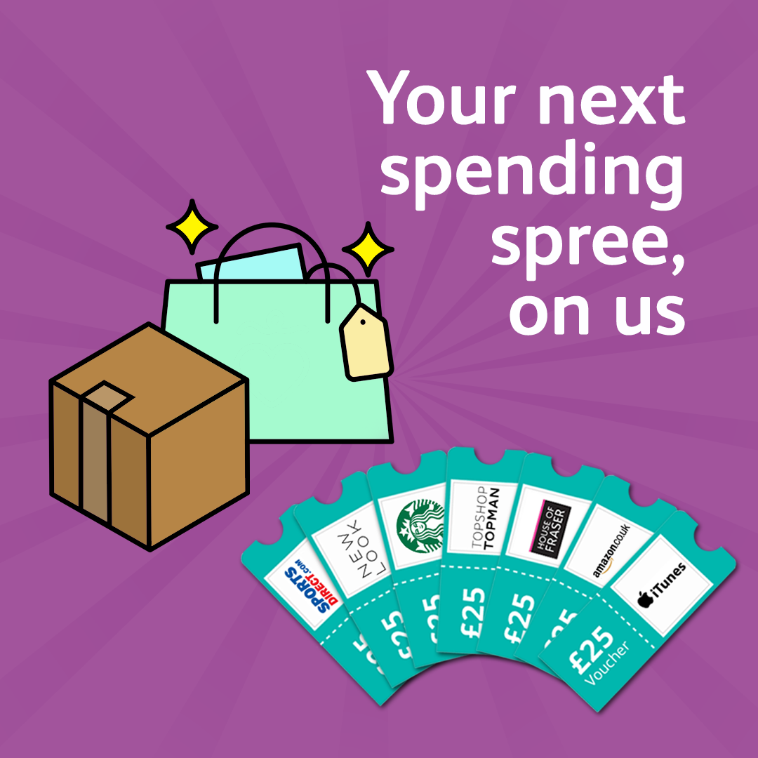 Earn shopping vouchers for sharing your opinions