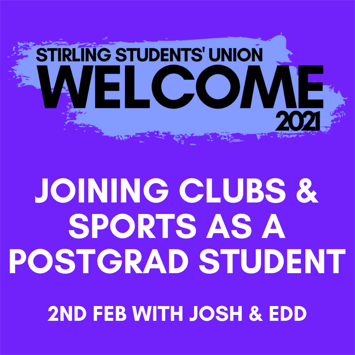 Welcome 2021: Joining Clubs & Sports as a Postgraduate
