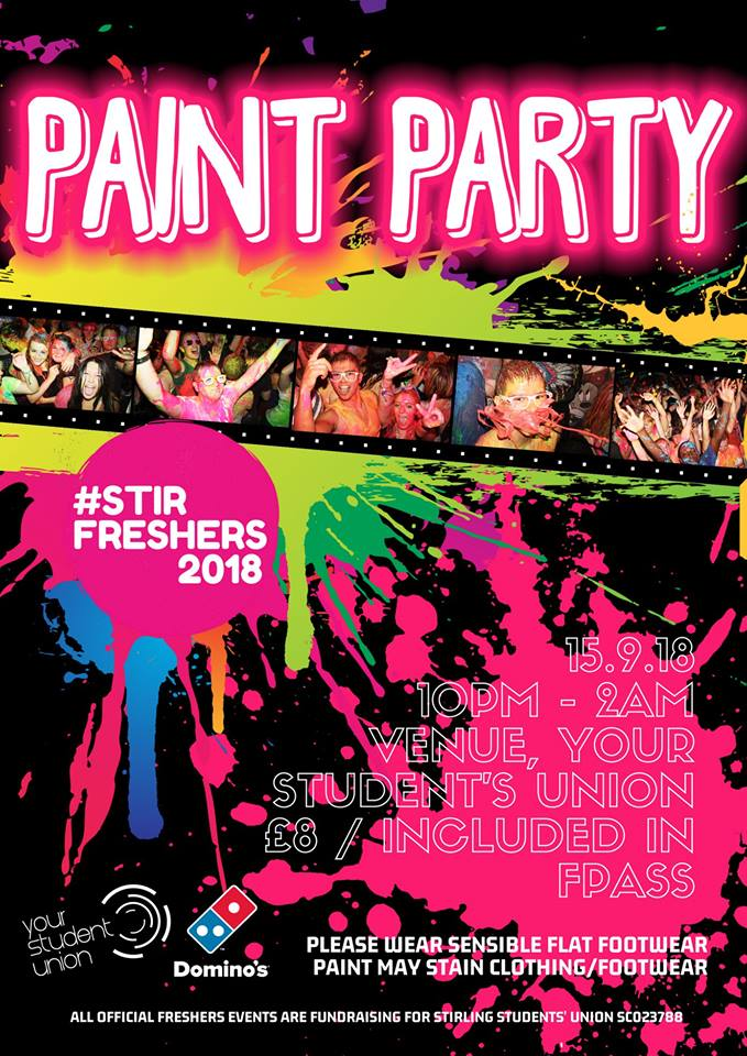 Freshers 2018: Paint Party