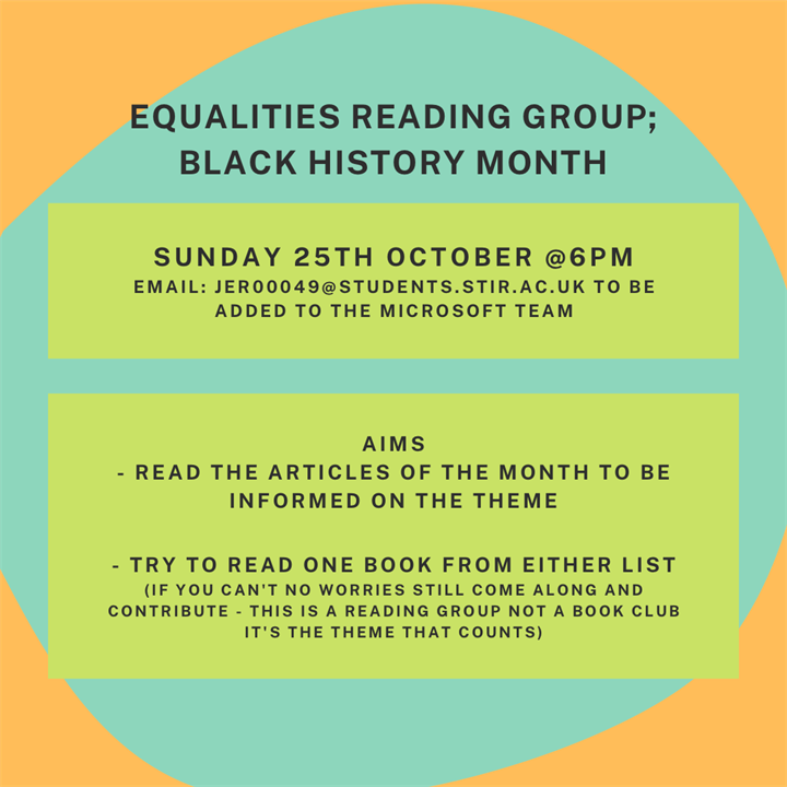 Equalities Reading Group: Black History Month