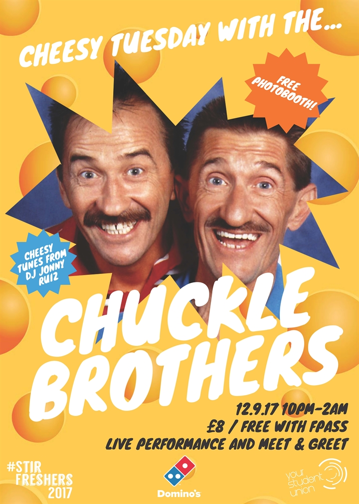Freshers 2017: Cheesy Tuesday with the Chuckle Brothers