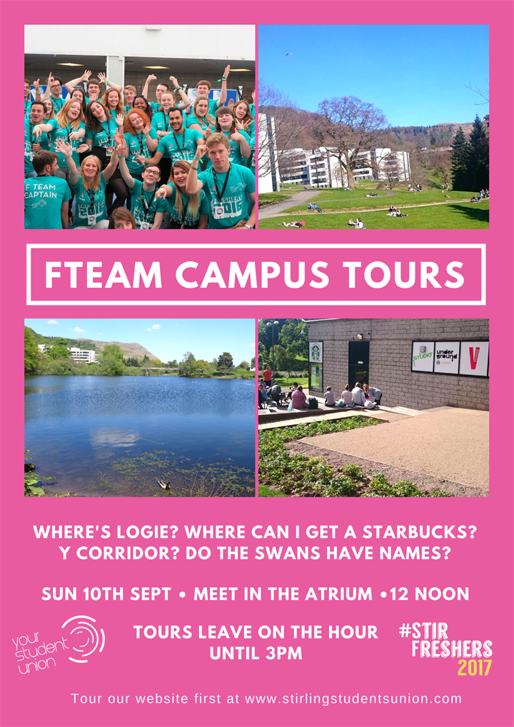 Freshers 2017: FTeam Campus Tours