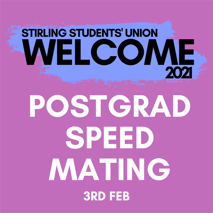 Welcome 2021: Postgraduate Speed Mating