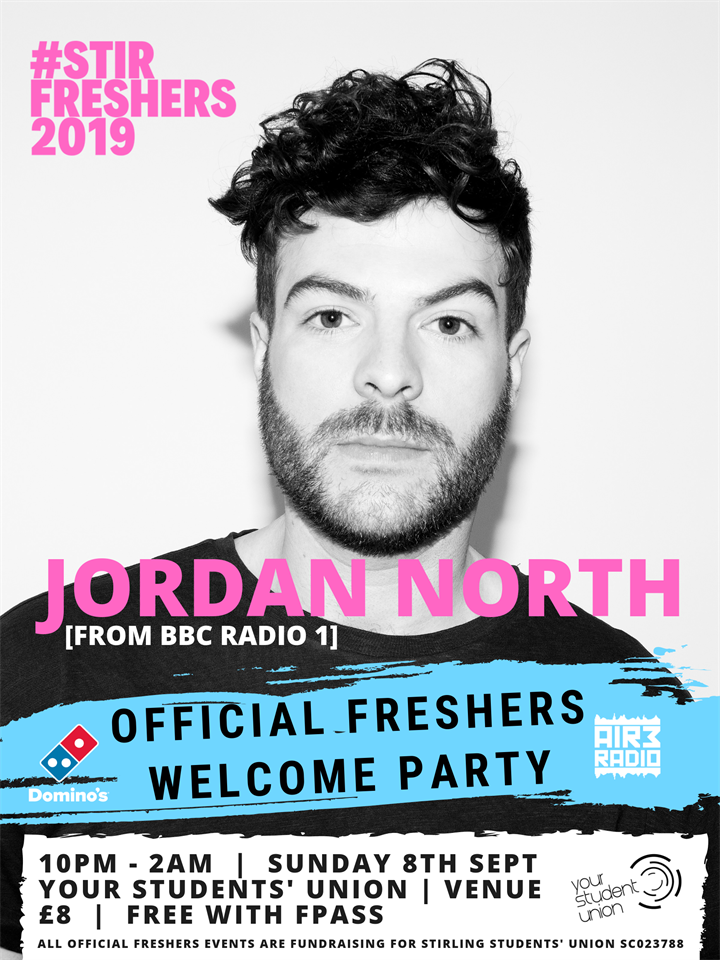 Freshers 2019: Jordan North Freshers Welcome Party