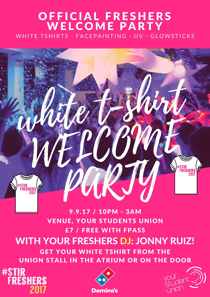 Freshers 2017: White T-Shirt Welcome Party