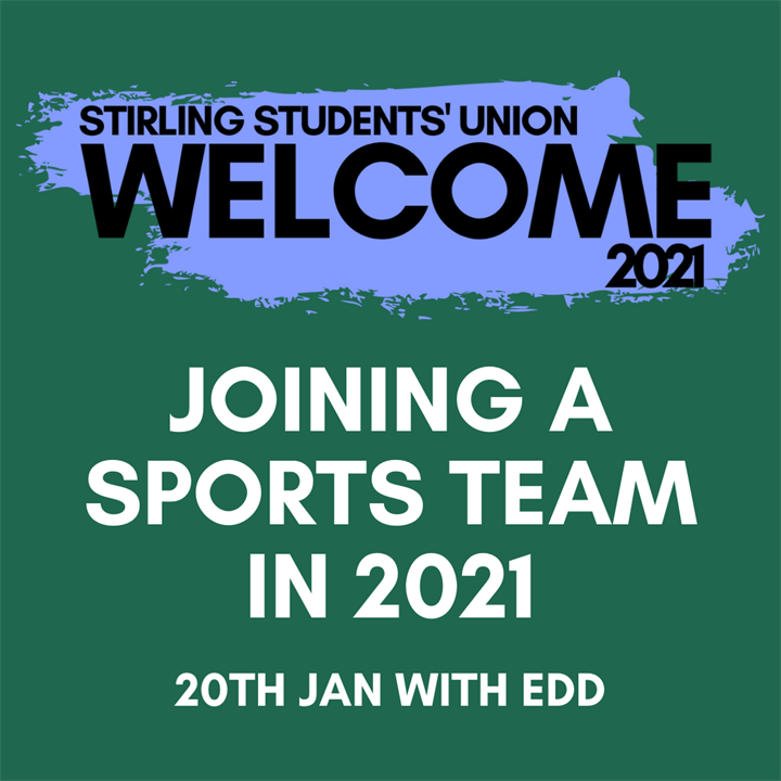 Welcome 2021: Joining Sports Union in 2021